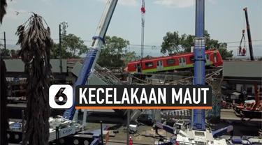 Kecelakaan kereta karena ambruknya rel kereta yang menimpa jalanan yang ada di bawahnya. Akibat insiden nahas ini, 24 orang dinyatakan tewas.