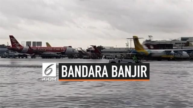 Bandara Internasional Ninoy Aquino, Filipina menunda dan mengalihkan sejumlah penerbangan karena diterjang Badai Tropis Bailu. Pasalnya landasan udara terendam air cukup tinggi.