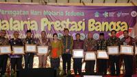 Peringatan Hari Malaria Sedunia 2019 di Desa Budaya Kertalungu, Kota Denpasar, Bali.