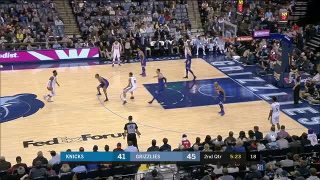 Berita video game recap NBA 2017-2018 antara Memphis Grizzlies melawan New York Knicks dengan skor 105-99.
