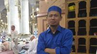 Kusno menjadi salah satu tenaga pembersih Masjid Nabawi asal Indonesia.(MCH Indonesia)