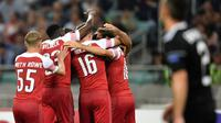 Arsenal melakoni laga kedua Grup E Liga Europa kontra FK Qarabag, di Baku Olympic Stadium, Kamis (4/10/2018) malam WIB. (AFP/Alexander Nemenov)