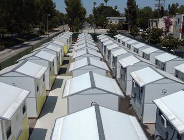 FOTO: Rumah-Rumah Mungil Hunian Sementara Tunawisma Los Angeles