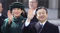 Putra Mahkota Kekaisaran Jepang Pangeran Naruhito dan istri, Putri Masako (AP)