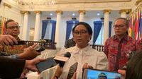 Menteri Luar Negeri Indonesia, Retno Marsudi di Gedung Pancasila Kemlu. (Liputan6.com/Benedikta Miranti T.V)