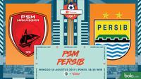 Shopee Liga 1 - PSM Makassar Vs Persib Bandung (Bola.com/Adreanus Titus)
