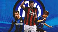 Inter Milan - Antonio Cassano, Hakan Calhanoglu, Thomas Helveg (Bola.com/Adreanus Titus)