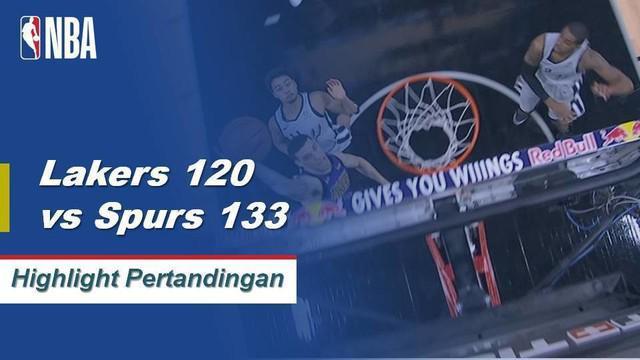 DeMar DeRozan turun dengan 36 poin dan menyumbang lima assist saat Spurs mengalahkan Lakers, 133-120.