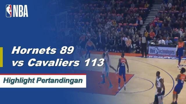 Jordan Clarkson mencetak 24 poin, Tristan Thompson mengikat 21 papan karier tertinggi saat Cavaliers melewati Hornets, 113-89.