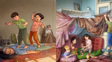 Bikin Nostalgia, 7 Ilustrasi Ini Gambarkan Tentang Masa Kecil