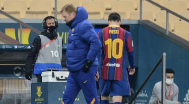 Ronald Koeman dan Lionel Messi