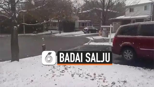 Peringatan badai salju dikeluarkan pemerintah Kanada, khususnya untuk wilayah Ontario dan Quebec. Diperkirakan, salju setebal 15 cm menyelimuti wilayah tersebut.