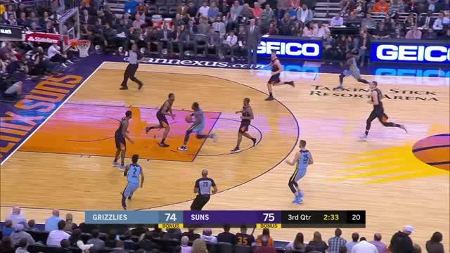 Berita video game recap NBA 2017-2018 antara Phoenix Suns melawan Memphis Grizzlies dengan skor 97-95.
