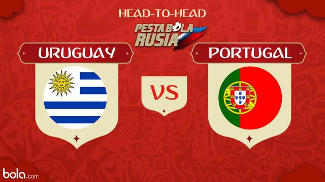 Berita video head-to-head Piala Dunia Rusia 2018: Uruguay vs Portugal.