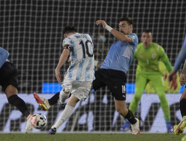 Foto: Lionel Messi Cetak Gol saat Argentina Melumat Uruguay dalam Kualifikasi Piala Dunia 2022