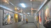 Underpass Bogor yang disulap jadi galeri seni (Istimewa)