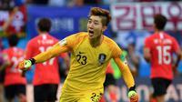 Kiper Timnas Korea Selatan di Piala Dunia 2018, Cho Hyun-woo. (AFP/Saeed Khan)