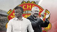 Solskjaer dan Sir Alex Ferguson. (Bola.com/Dody Iryawan)