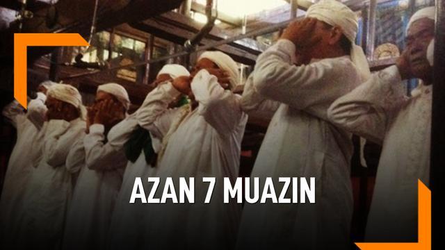 Azan di Masjid Ini Dikumandangkan 7 Muazin