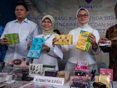 20170502-Badan POM Musnahkan Pangan dan Kosmetik Ilegal-Gempur