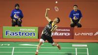Pebulutangkis, Jonatan Cristie, berhasil menjadi juara nasional 2015. (Bola.com/Vitalis Yogi Trisna)