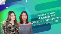 Via Vallen dan deretan artis yang wajahnya disebut mirip dengan atlet Asian Games 2018. (Foto: Instagram/kang.youngmi_/viavallen Desain: Nurman Abdul Hakim/Bintang.com)