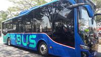 PT Angkasa Pura II menguji coba bus listrik prototipe milik PT Mobil Anak Bangsa (MAB) di Bandara Internasional Soekarno Hatta.
