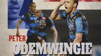 Madura United - Peter Odemwingie (Bola.com/Adreanus Titus)