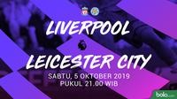 Premier League - Liverpool Vs Leicester City (Bola.com/Adreanus Titus)