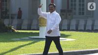 Sekjen Partai Nasdem Johnny G Plate  tiba di Kompleks Istana Kepresidenan di Jakarta, Selasa (22/10/2019). Johnny G Plate  merupakan politikus ketiga dari Partai Nasdem yang diundang ke istana menjelang pengumuman kabinet Jokowi-Ma'ruf pada Rabu besok. (Liputan6.com/Angga Yuniar)