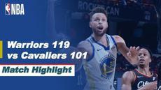 Berita video highlight NBA, Golden State Warriors Bungkam Tuan Rumah Cleveland Cavaliers 119-101, Jumat (16/4/2021)