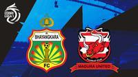 BRI Liga 1 - Bhayangkara FC Vs Madura United (Bola.com/Adreanus Titus)