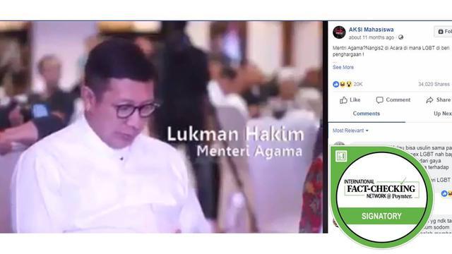 Cek Fakta] Menteri Agama Hadiri Acara Penghargaan LGBT Tanda