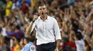 Luis Enrique adalah mantan pemain dan sekarang menjadi arsitek Barcelona. (AFP/Quique Garcia)