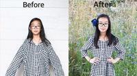 Ide kreatif Sarah Tyau mengubah baju lama dengan desain baru. (dok.Instagram @sarahtyau/https://www.instagram.com/p/BoS4DSCn1qo/Henry