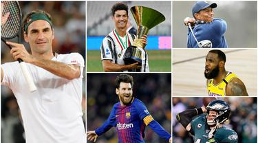 Petenis asal Swiss, Roger Federer, berhasil mengungguli  bintang lapangan hijau, Cristiano Ronaldo dan Lionel Messi, sebagai atlet dengan pendapatan tertinggi tahun 2020. Berikut 10 olahragawan yang masuk dalam jajaran atlet terkaya versi Forbes.