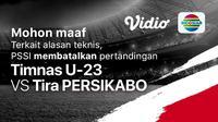 Uji Coba Timnas U23 Batal