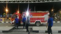 Situasidi Bandara Supadio Pontianak saat penumpang iseng ada bom di pesawat Lion Air. (dokPolda Kalbar)