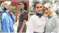 Duo ratu FTV Genta Buana, Imel PC dan Revi Mariska reuni. (Sumber: Instagram/@arsandy_aditya/@revimariskaofficial_)
