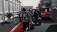 Jemaah haji Indonesia yang akan kembali ke Indonesia. Liputan6.com/Nurmayanti