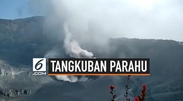Setelah hampir 1 bulan erupsi Gunung Tangkuban Parahu kembali meninggi, semburan abu vulkanik mencapai ingga 150 meter. Meski demikian status gunung masih waspada dan level aman 1,5 km dari kawah.
