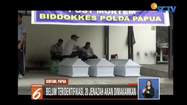 Polda Papua temukan satu jenazah korban banjir bandang di Sentani, Papua.