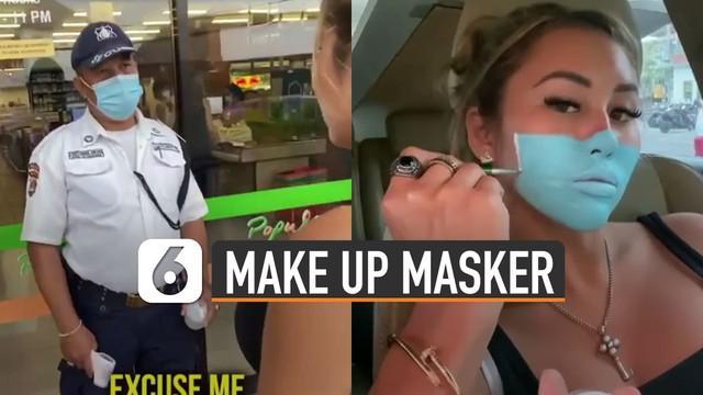 Aksi kurang terpuji ditunjukkan oleh dua orang bule ini ketika menggunakan make up mirip masker dan mengelabui satpam. Beruntung kedua bule itu berhasil ditangkap.