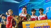 Tim Bigetron Red Aliens berpose setelah menjadi juara pada PMCO 2019, di Malaysia.  (FOTO / Ist Bigetron)