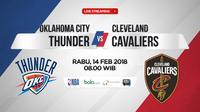 Oklahoma City Thunder Vs Cleveland Cavaliers (Bola.com/Adreanus Titus)