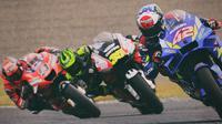 MotoGP - Digadang Bisa Kompetitif, Pembalap Ini Justru Tampil Loyo di 5 Balapan MotoGP 2020: Alex Rins, Cal Crutchlow, Danilo Petrucci (Bola.com/Adreanus Titus)