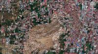 Penampakan kota Palu diambil dari satelit usai tsunami yang melanda (AP)