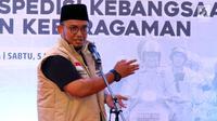Ketua Pemuda Muhammadiyah Dahnil Anzar Simanjuntak memberikan sambutan acara Tasyakuran Milad 86 Tahun Pemuda Muhammadiyah di Pusat Dakwah Muhammadiyah, Jakarta, Sabtu (5/5). (Liputan6.com/Johan Tallo)