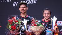 Ganda campuran Indonesia, Praveen Jordan/Melati Daeva Oktavianti, berhasil menjadi juara di Denmark Terbuka 2019. (Dok. PBSI)