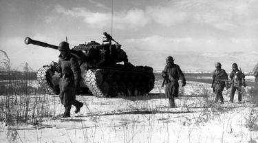 Evakuasi Waduk Chosin, Perang Korea (Wikimedia Commons)